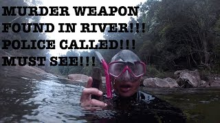 RIVER TREASURE HUNT WITH LNKT: MURDER WEAPON FOUND IN RIVER!! POLICE CALLED!!! MUST SEE!!!