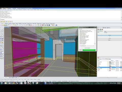 Umass A+D Digital Fabrication Lab - VRay for Rhino Interior Rendering