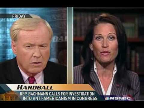 Hardball: Bachmann's Anti-America Rant Followup 10.20.08