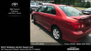 Used 2005 Toyota Corolla | Hot Wheels Auto Sales LLC, Manchester, CT