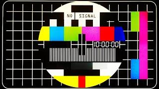 Sinyal Yok TV Efekti, Kapalı Yayın Sesi, Bip Sesi, Eski TV Yayını, 10 Saatlik Sayaç
