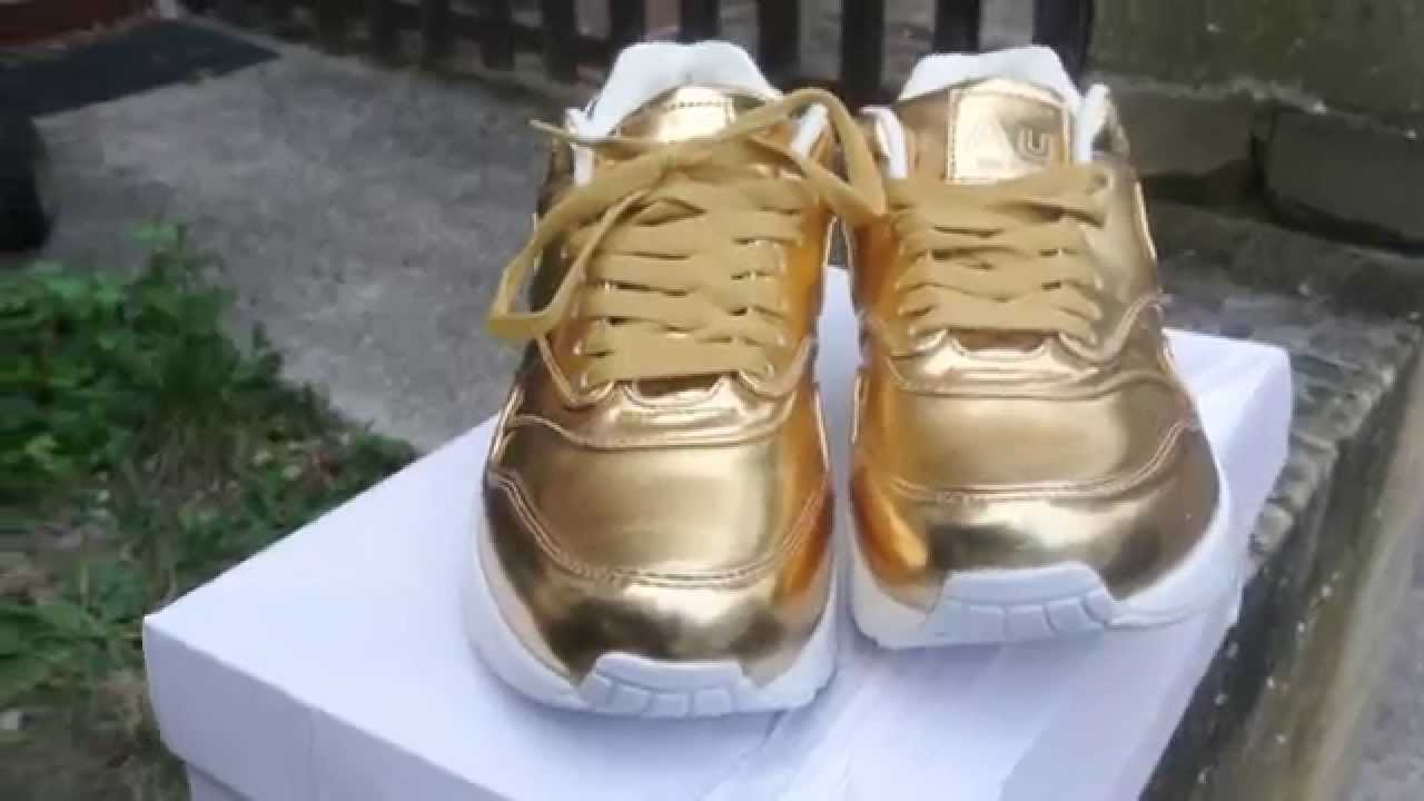 59173b53ef57 NIKE AIR MAX 1- LIQUID GOLD - YouTube