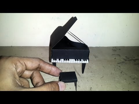 DIY, paper craft,  how to make piano from paper,  Piano Tutorial