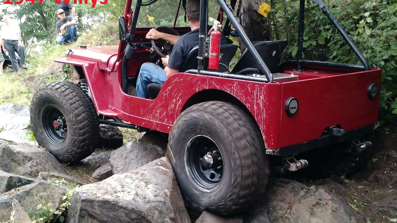 1947 Jeep Willys CJ2A Rock Crawler Build Interview and Trail Ride
