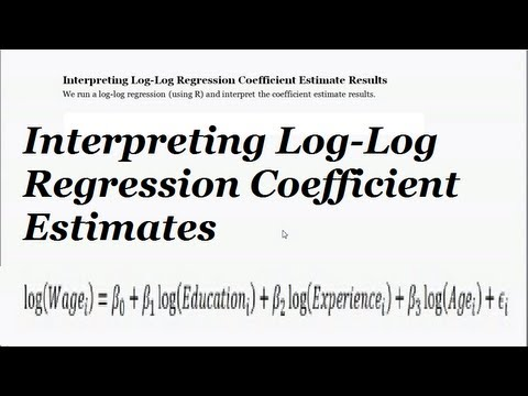 Log Log Regression Interpretation What Do The Regression