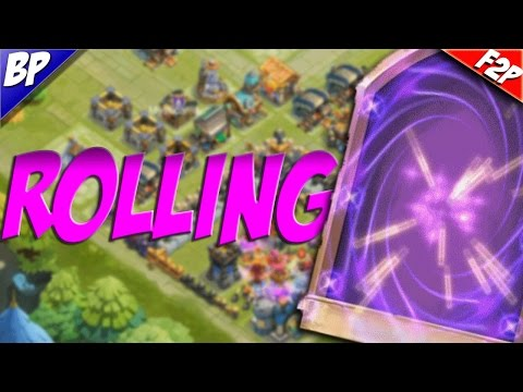 Castle Clash F2P Part 6 Rolling For Legendary Heroes!