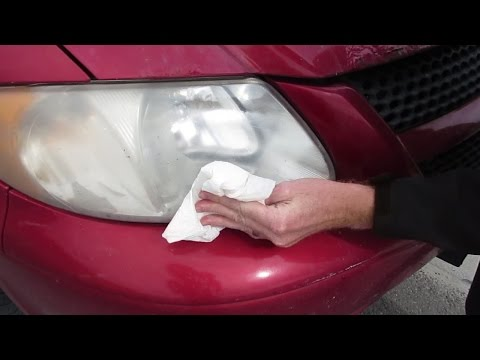 HOW TO CLEAN AND POLISH OLD HEADLIGHTS FOR $5