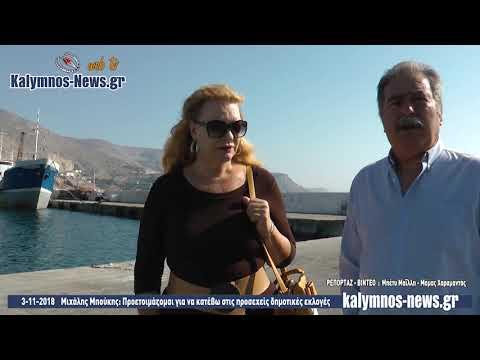 3-11-2018 Μιχάλης Μπούκης: Προετοιμάζομαι για να κατέβω στις προσεχείς δημοτικές εκλογές