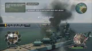 Battlestations Pacific Gameplay-Montana-Super battleship-Narwhal submarine-P 41 Warhawk fighter