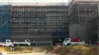 三重県立博物館建築現場遠景 Mie Prefectural Museum building site(November 2012)