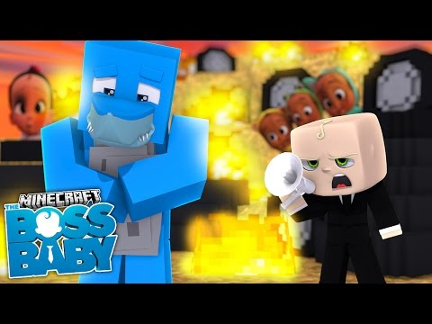 Minecraft BOSS BABY - SCUBA STEVE GETS SHARKY INTO BIG TROUBLE WITH THE BOSS!!!