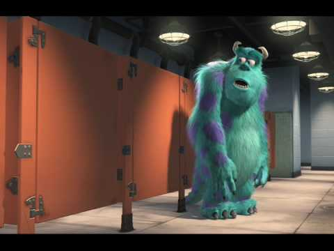 Monsters Inc Boo singing in the bathroom
