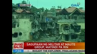 UB: Sagupaan ng militar at Maute group, matindi pa rin