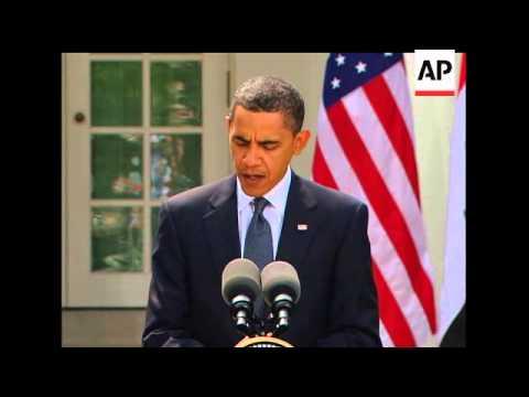 Standing alongside Iraqi Prime Minister Nouri al-Maliki, President Barack Obama said Wednesday that