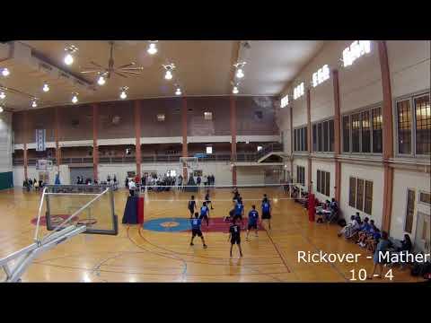 Rickover vs Mather High School Men's Volleyball