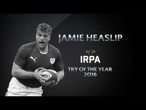 Jamie Heaslip wins IRPA Try of the Year | World Rugby Awards 2016