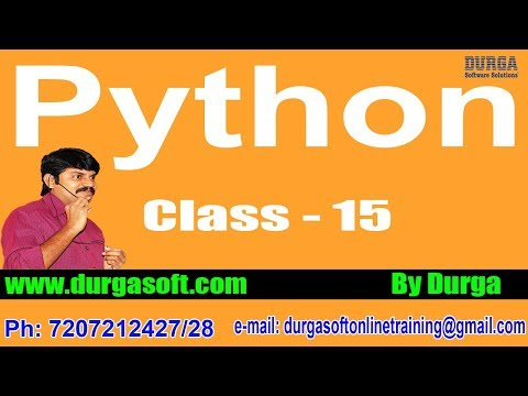 Learn Python Programming Tutorial Online Training by Durga Sir On 20-04-2018 @ 6PM