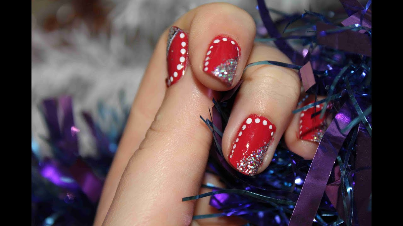 photo idee deco ongles pour noel