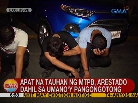 UB: Apat na tauhan ng MTPB, arestado dahil sa umano'y pangongotong