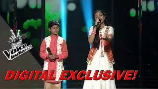Shreyan Bhattacharya and neelanjana ray || Sandese aate h || The voice of india kids