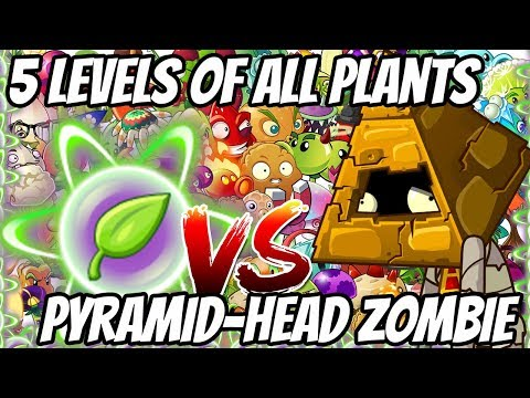 ALL Plants 5 Levels of Ultimate POWER UP - Pyramid Head Zombies | Plants vs Zombies Epic MOD