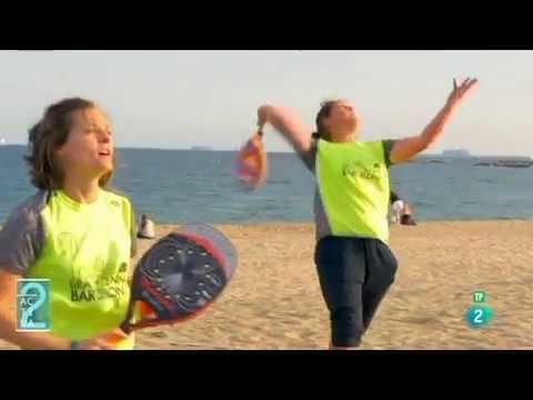 Programa Activa 2 (RTVE) sobre Beach Tennis Barcelona