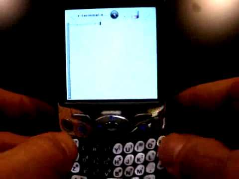 Palm Treo 650 boots Linux
