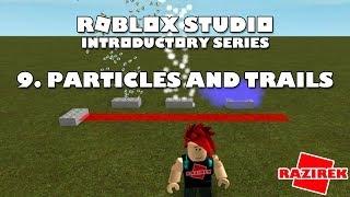 Roblox Studio série introdutória tutoriais-partículas e trilhas