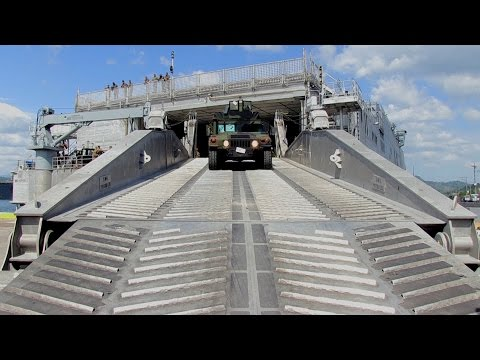 Balikatan 2016 - Arrival of USNS Millinocket and Unloading of Heavy Equipment Vehicles online watch, and free download video or mp3 format