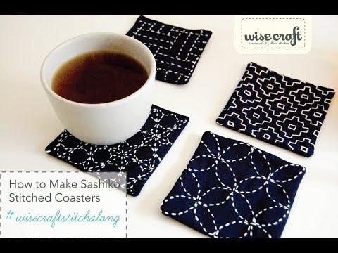 #wisecraftstitchalong Sashiko Coaster 1/Ishidatami (Paving Blocks)