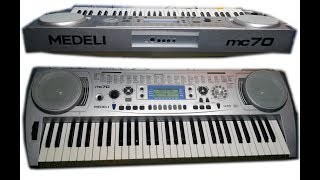 mEDELI mc70 (sound and styles demonstration)