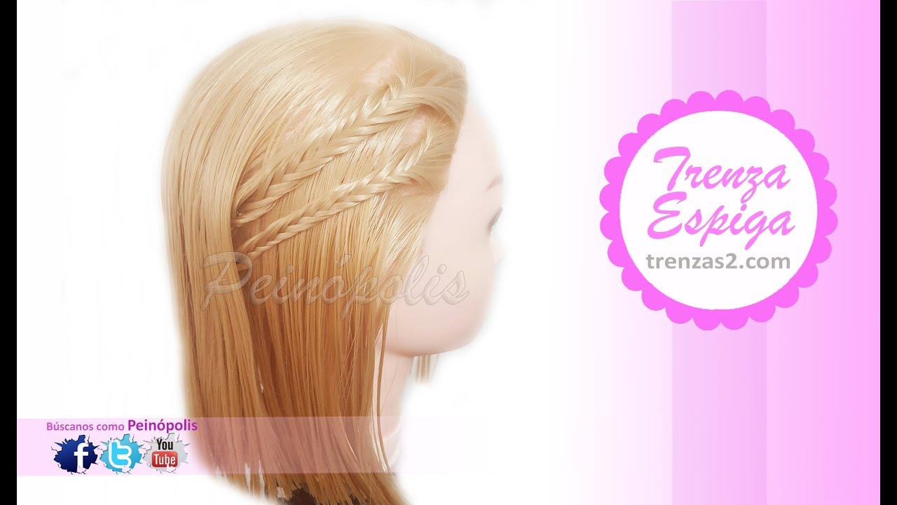 Peinados faciles y rapidos para cabello corto trenzas de espiga para ni as youtube Pelo corto para ninas