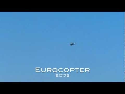 49th International Paris Air Show - Eurocopter EC175 Flight Demo & AS332 Super Puma Paratroopers
