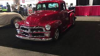 Beautiful classic Chevy truck candy apple red SEMA 2018