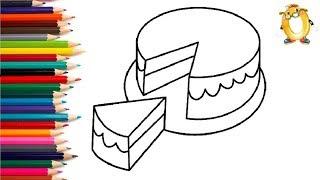 Раскраска для детей ТОРТИК. Мультик - Раскраска. Учим цвета II ОБУЧАШКА ТВ