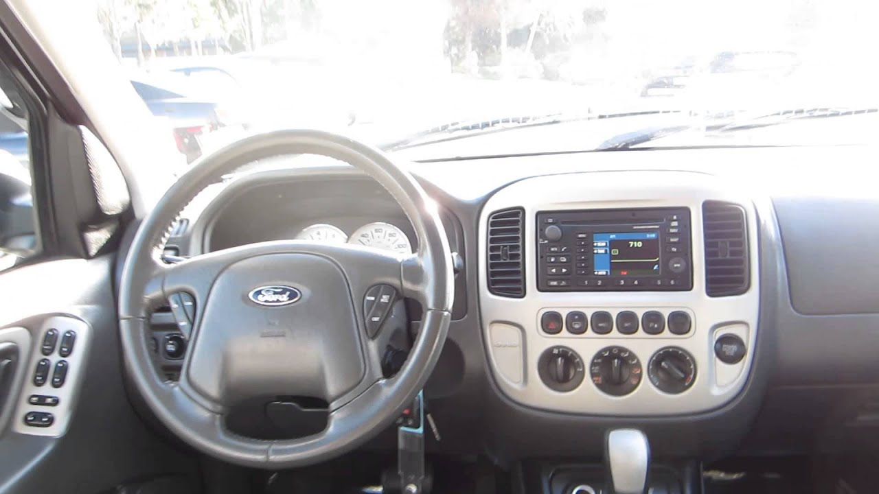 2007 Ford Escape Silver Metallic Stock 14874a Interior