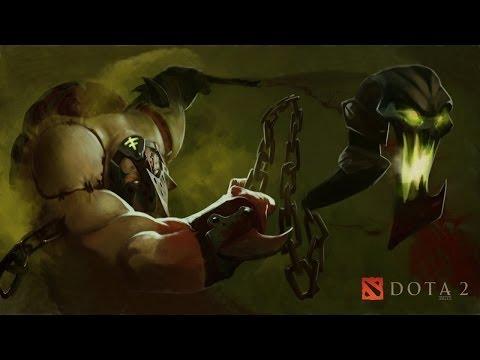 видео: dota 2 pudge(Вытащил мид)