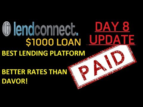 $1000 Loan with LendConnect Review | Day 8 Update Lending Platform LCT Review & Price Analysis