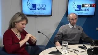 Профессор ЛУ Михаил Хазан и доктор социологии ЛУ Инта Миериня в программе