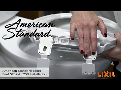 How to Install a Toilet Seat: 5257 & 5259 Models by American Standard