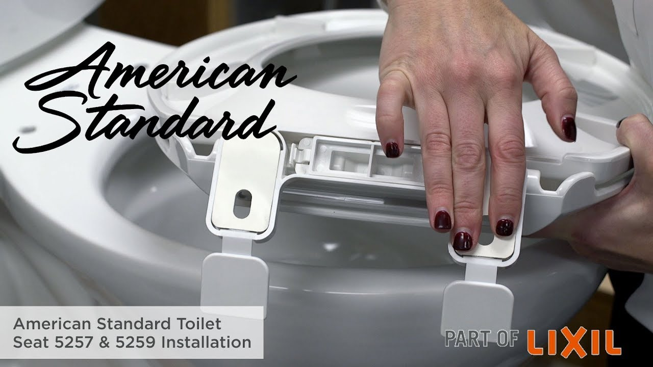 How To Install A Toilet Seat 5257 5259 Models By American Standard