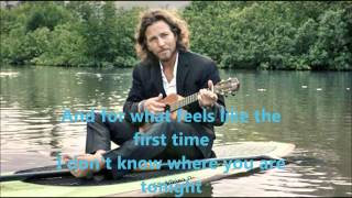 Eddie Vedder - Goodbye with lyrics
