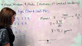 MAT 110 Basic Statistics Lesson 2 video 1
