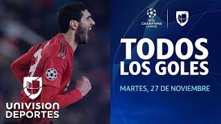 Todos los goles de la jornada 5 día 1 de la UEFA Champions League