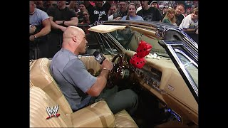 Kurt Angle fails to steal Eddie Guerrero's car SmackDown, July 29, 2004