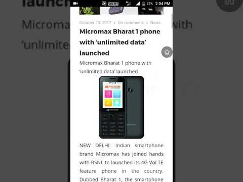 Micromax 2018 mobiles tagged videos | Midnight News