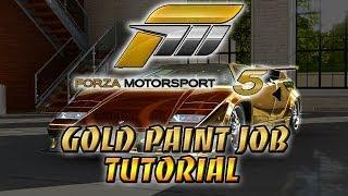Forza Motorsport 5: Gold Paint Job Tutorial (Xbox One)