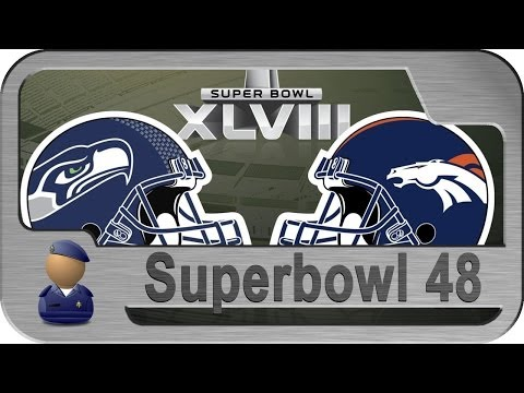 NFL: Super Bowl XLVIII (Superbowl 48) 2014 - Seahawks vs Broncos