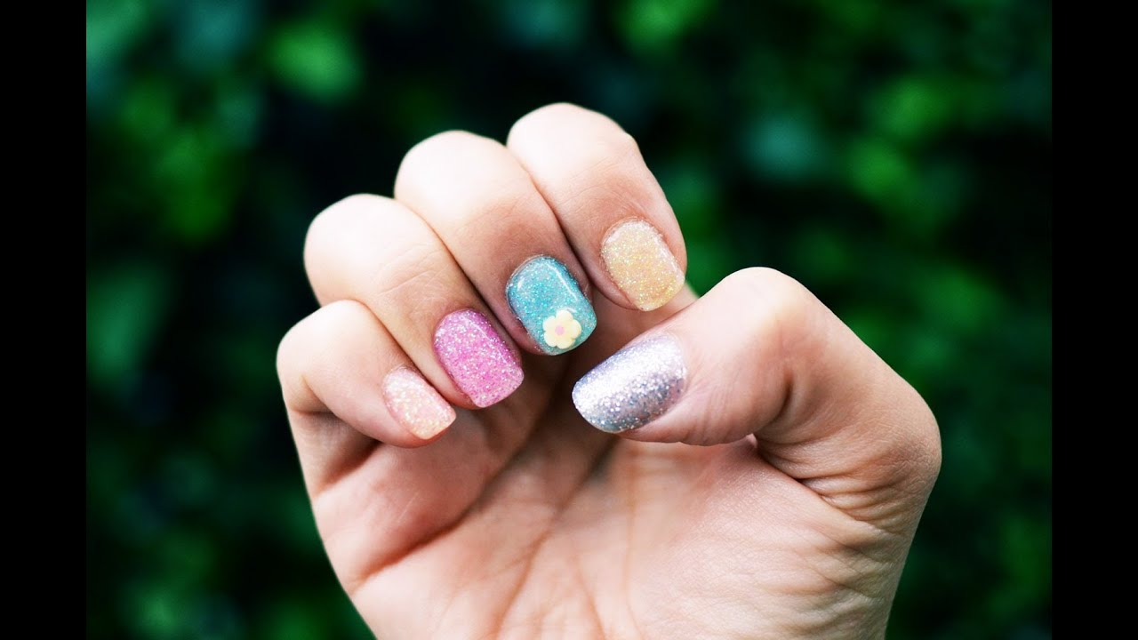 Mr. Kate Quickie: Spring Glitter and 3d Nail Art Gel Manicure ...