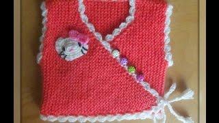 Жилет-распашонка для малыша спицами.Knitted vest for the baby